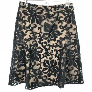 Ann Taylor Sheer Overlay A-Line Skirt